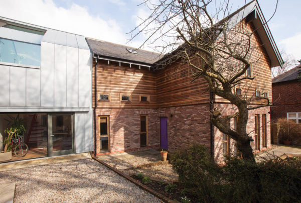 Metal clad two-storey extension