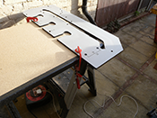 Clamp worktop template