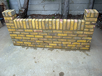 Step 11 brush down the brick