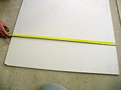 Step 2 measure and cut plasterboard