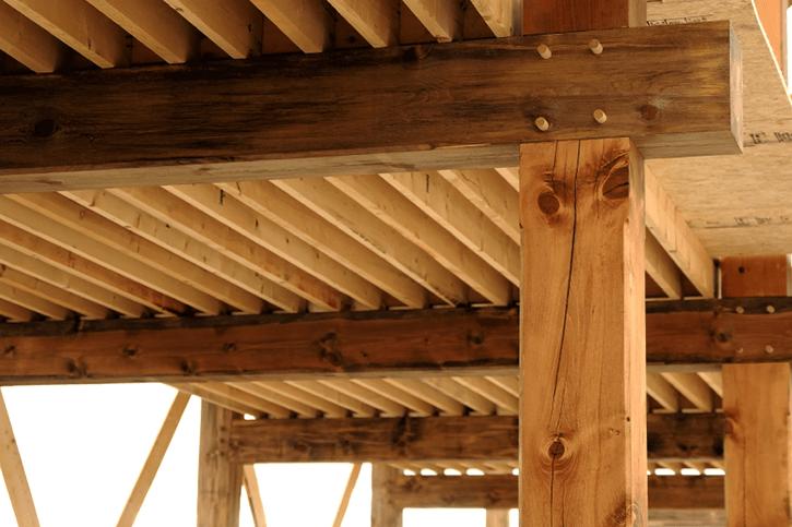 Specifying upper storey floor structures build it - Vigas de madera baratas ...