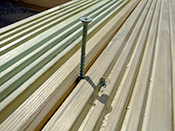 Leave a 5mm expansion gap between each decking board