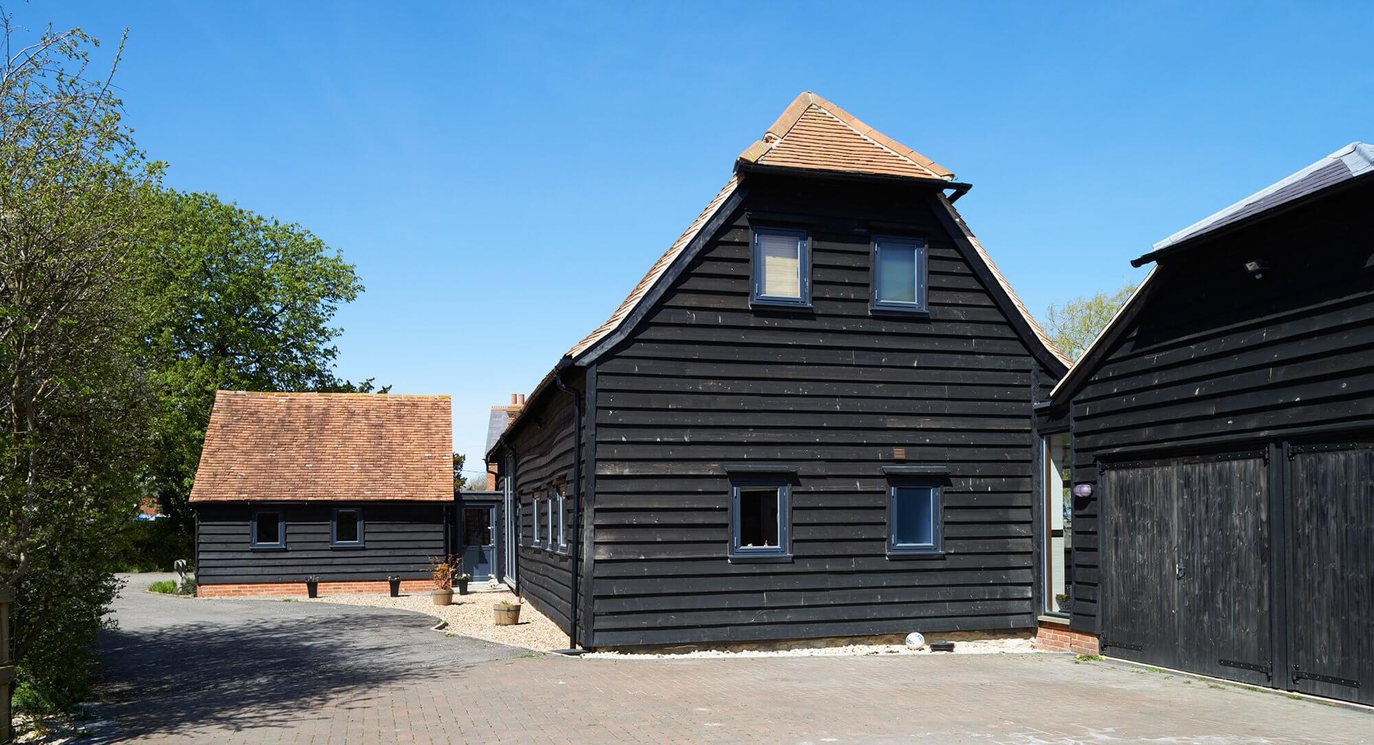 Timber frame barn conversion