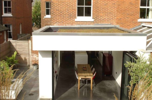 Victorian renovation with steel frame extension