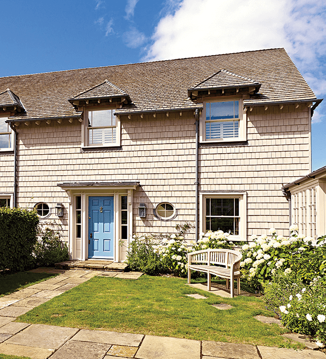 Factory-finished Nantucket premium eastern white cedar shingles from Silva Timber