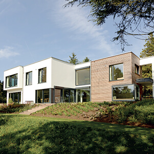 Modern self build home by Baufritz