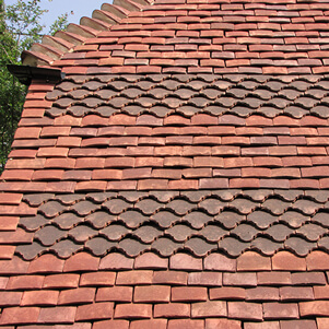 Kent peg clay tiles by Tudor Tiles