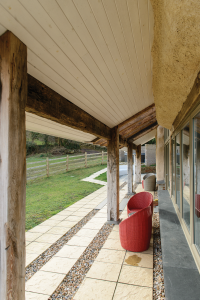 Reclaimed timber frame zero carbon home