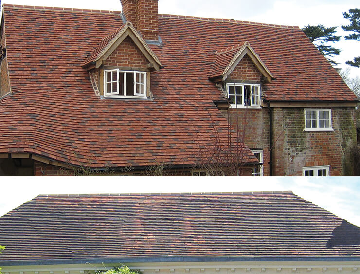 reclaimed and new clay tiles