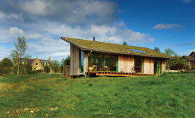Eco home with green roof