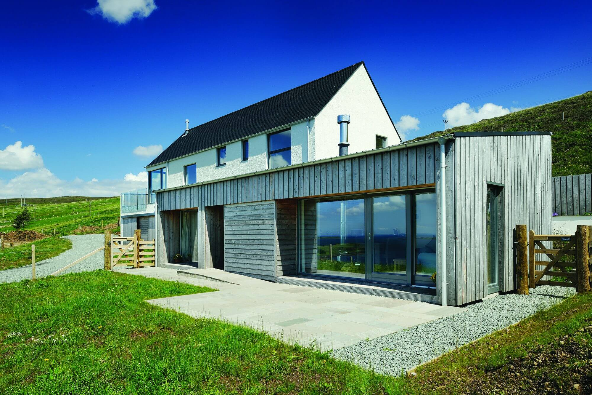Contemporary Home on sloping plot