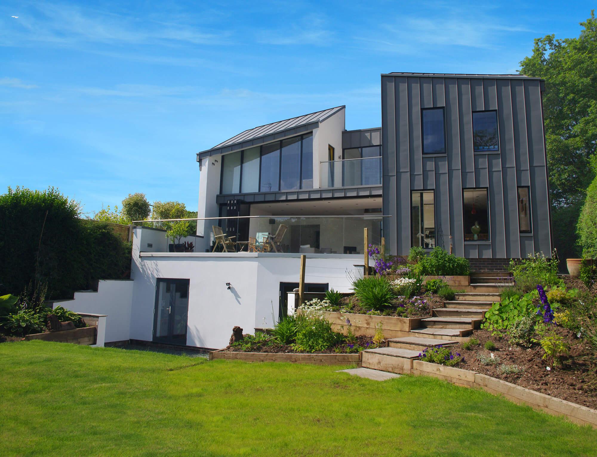 Modern Home Clad in Zinc