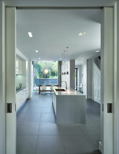Glass extension in Georgian house
