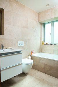 simple stone bathroom