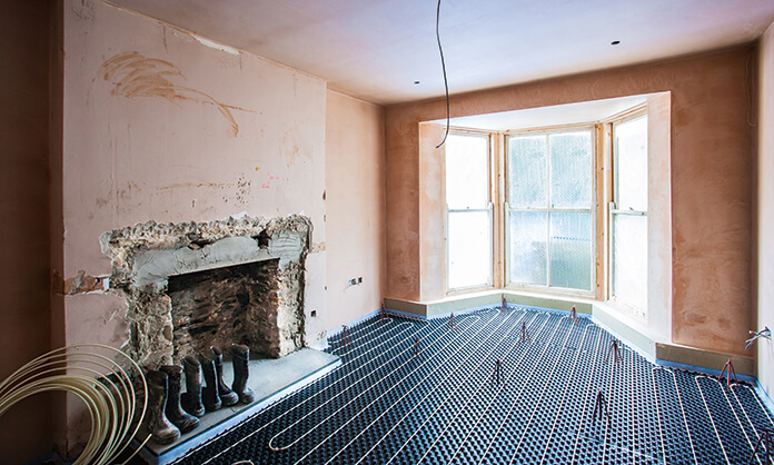The LoPro Max underfloor heating system by Nu-Heat featuring low screeds