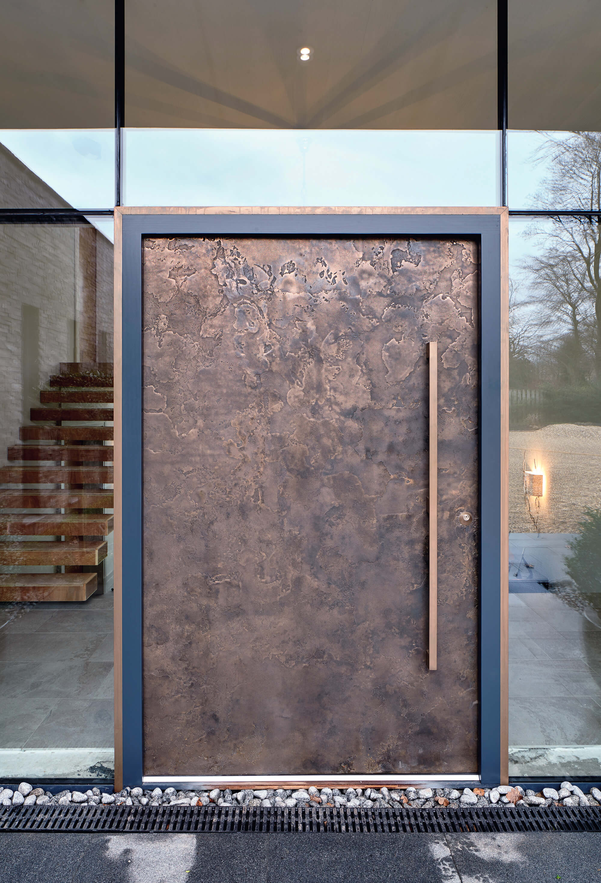 How to make a statement with your front door build it - Commercial steel exterior doors with glass ...