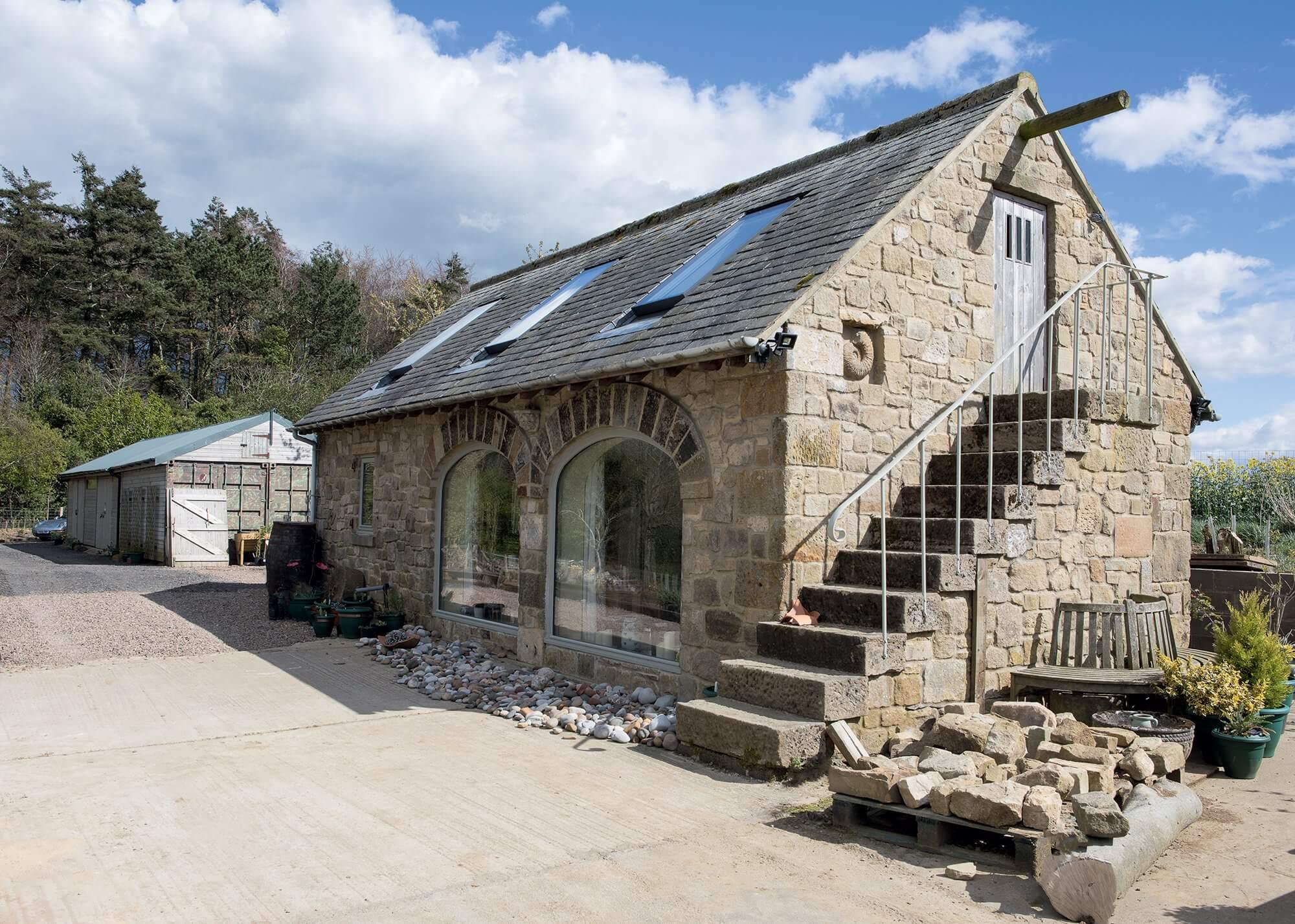 Stone barn conversion. Photo: David Barbour