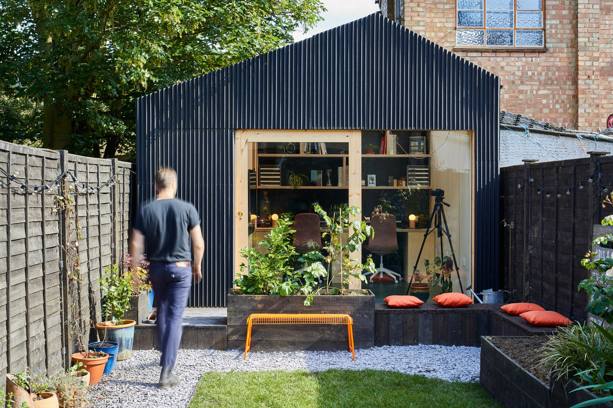 Black timber clad house