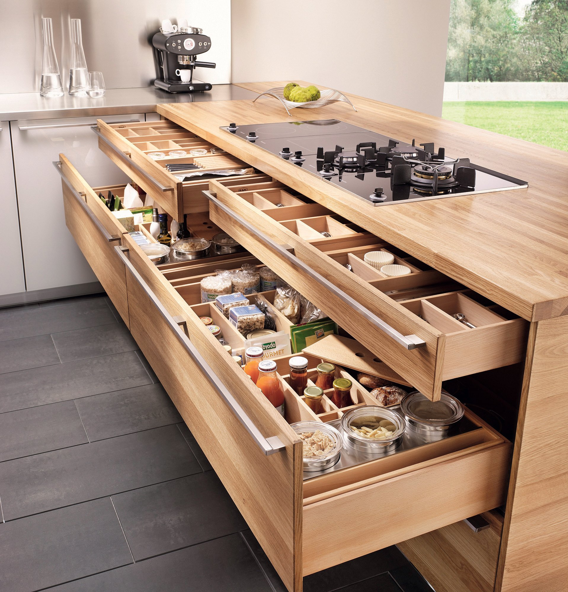 Linee Kitchen drawer by Team 7