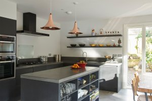 Contemporary kitchen in house designed by Facit Homes