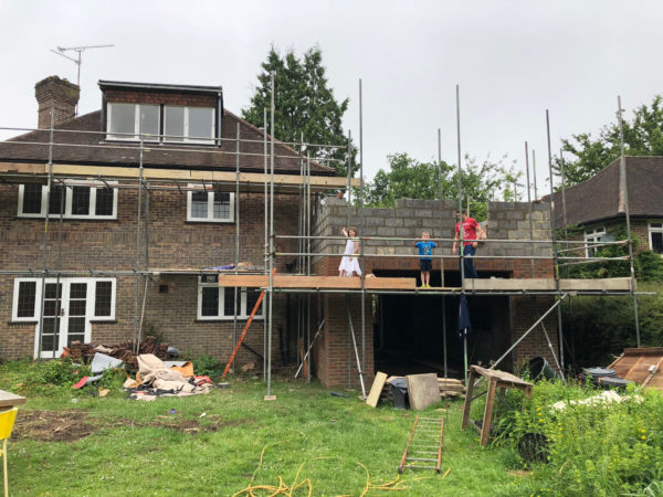 The Betts as renovation and extension works progress