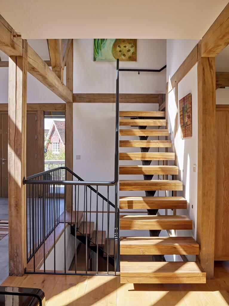 staircase with open risers