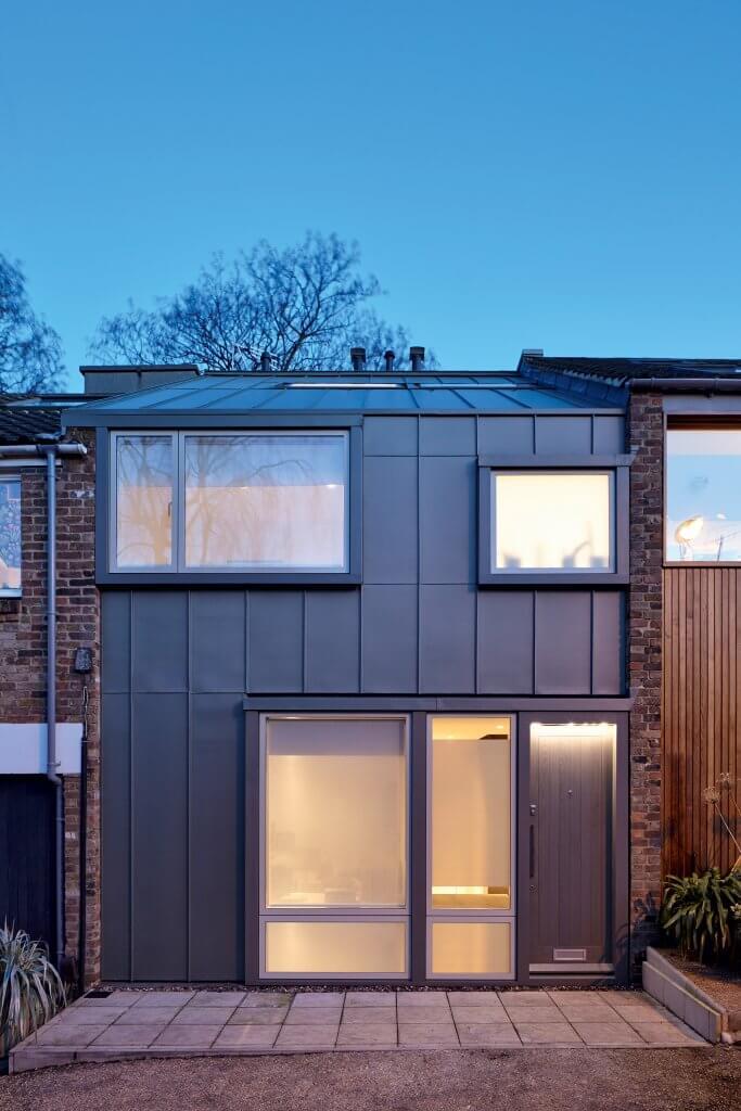 Modern zinc roof