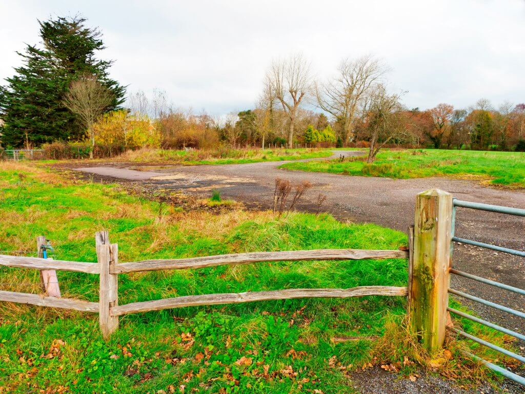Plots with planning permission to build two homes