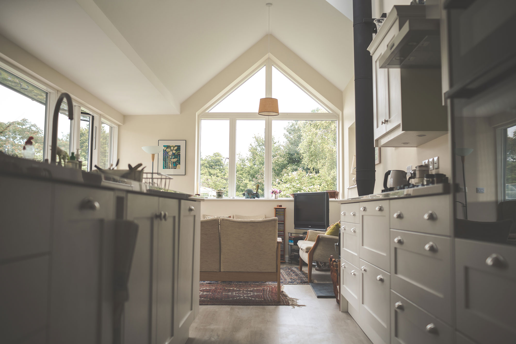eco friendly self build next to listed cottage