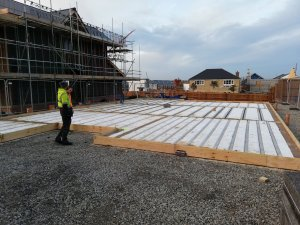 Beam and block complete at graven hill self build