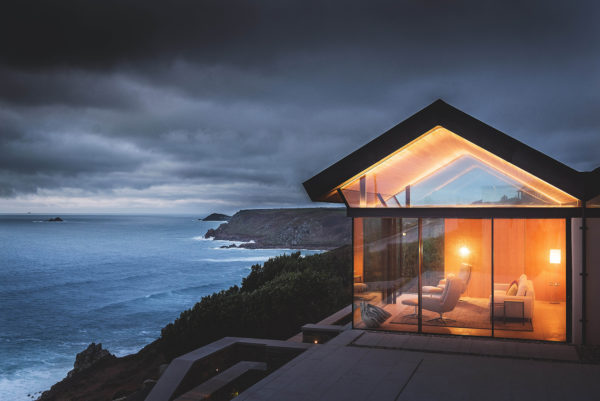 Glazed extension overlooking the sea [Credit: James Ram]