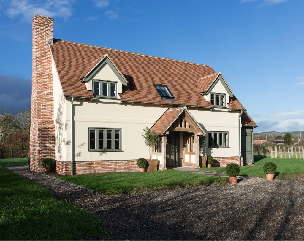 Oak frame home built on brownfield land by Border Oak
