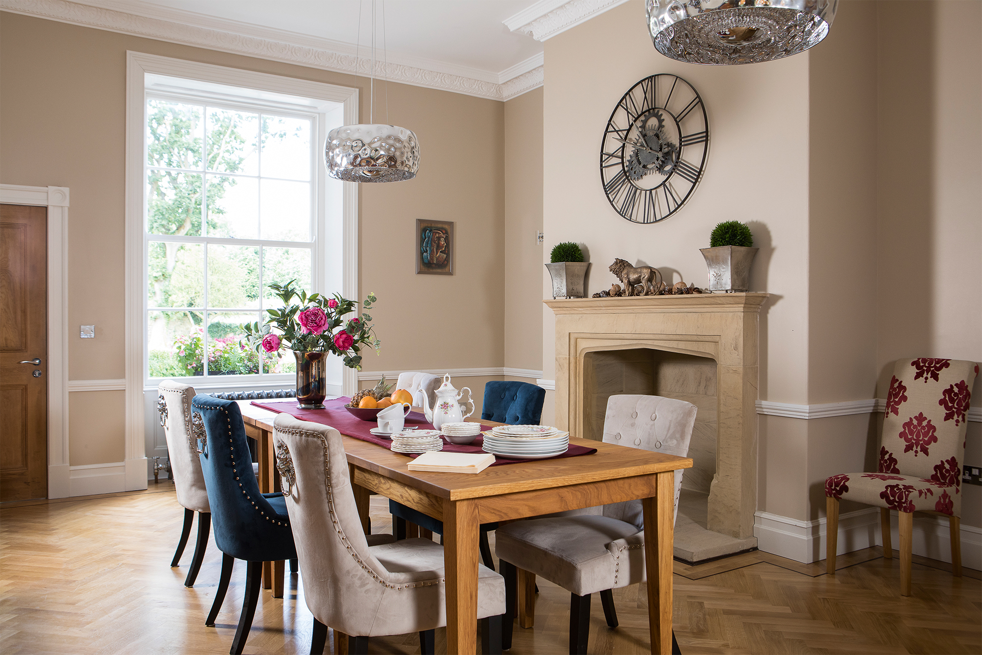 Dining room in renovated Georgian house