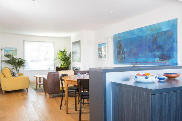 Open plan kitchen-dininig-living