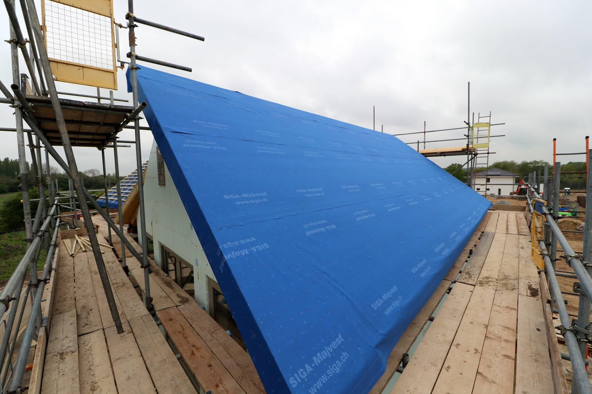 SIPs roof breather membrane for the Build It Education House