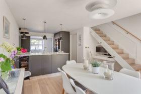 open plan modern kitchen area