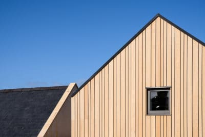 Siberian larch cladding on cottage