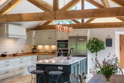 Oak frame kitchen extension