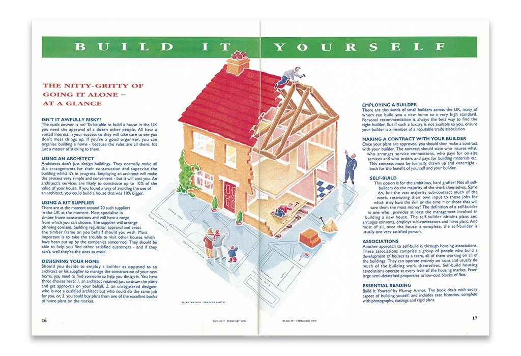 Build It magazine first edition - self build challenges