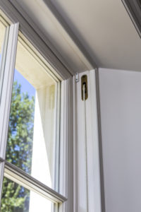 Sash window with pulley detail