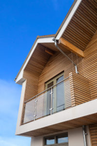 House with larch cladding