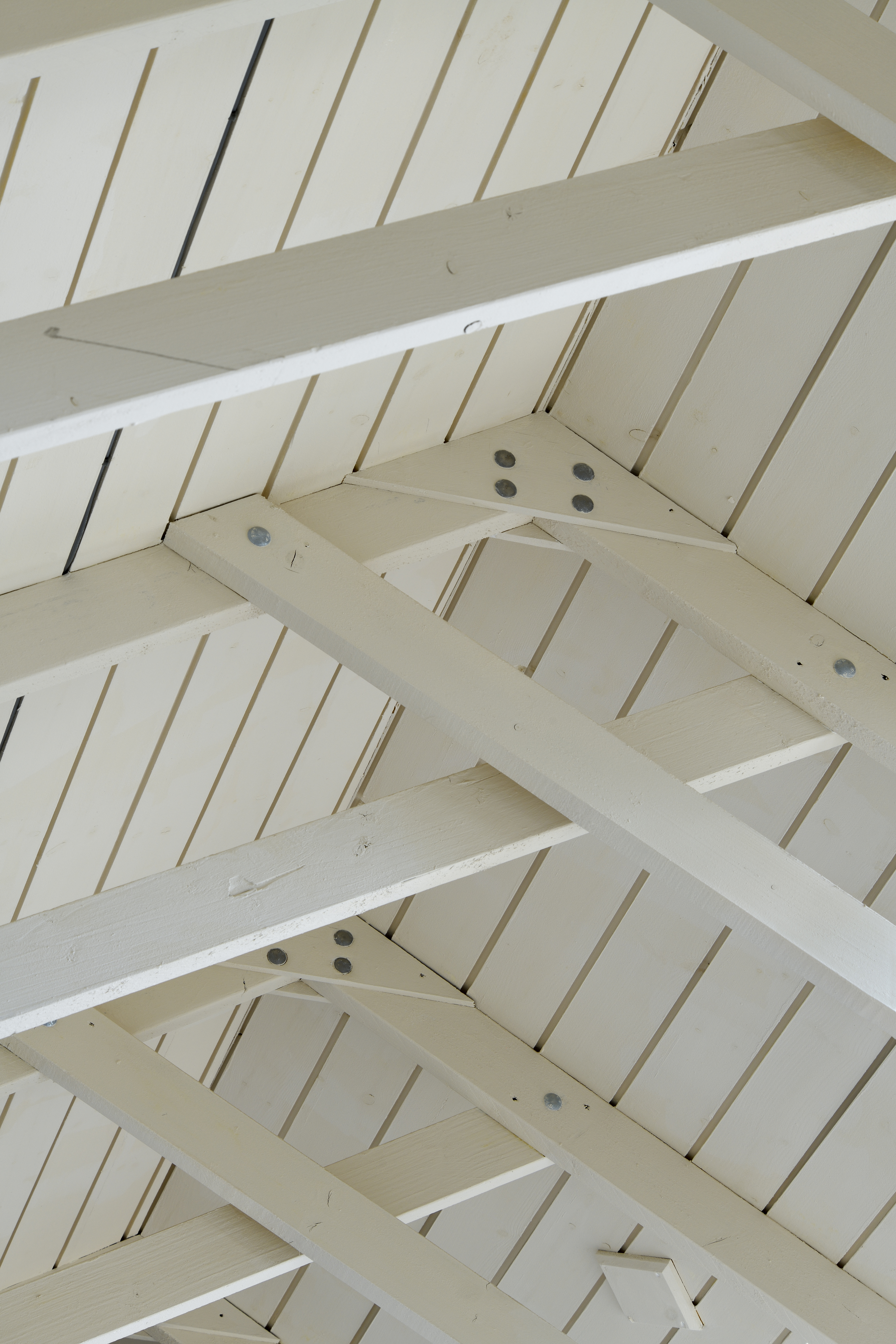White wooden roof