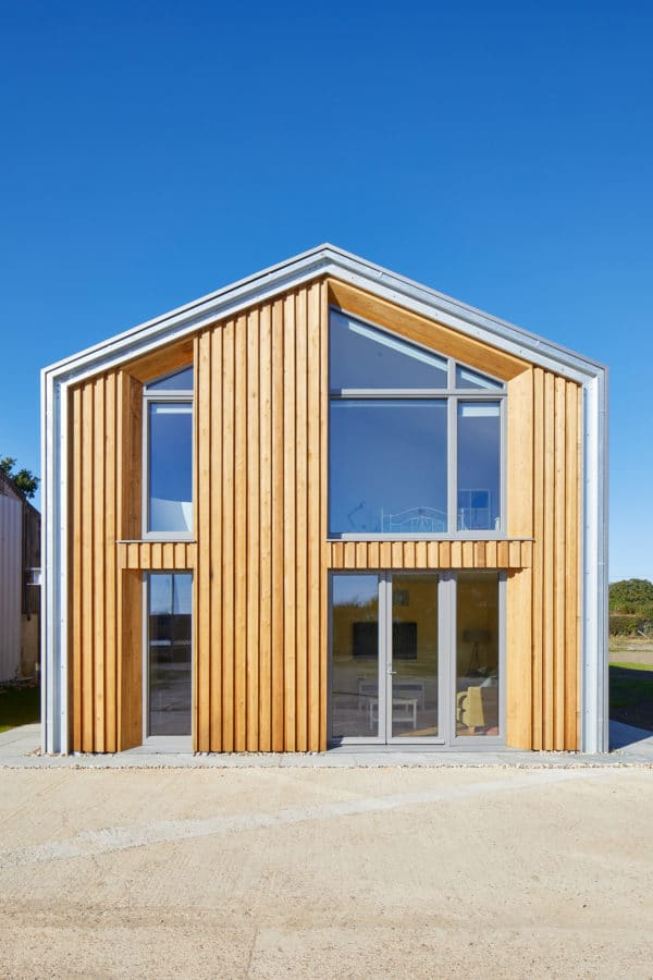 Timber clad house